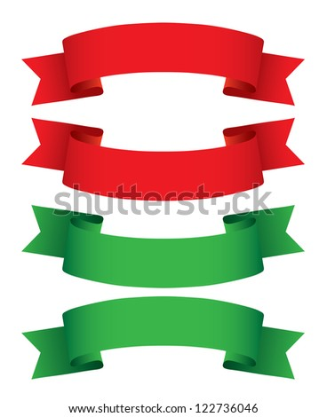 Ribbon collection. Vector