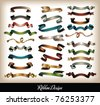 ribbon design - stock photo
