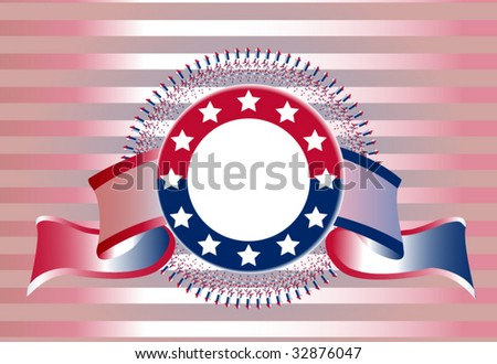 Ribbon for fourth of july - stock vector