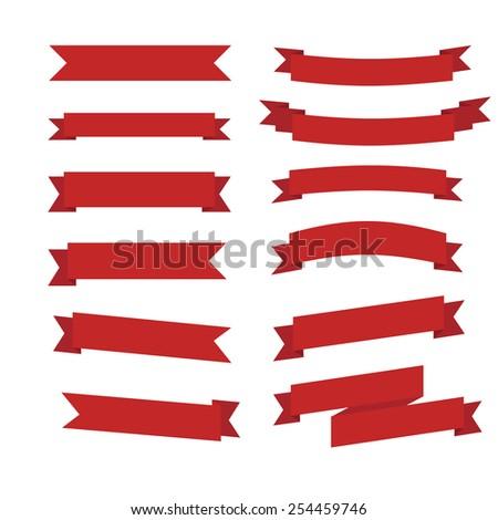 ribbon icons - stock vector