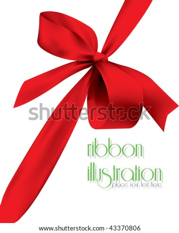Ribbon illustration.Please visit to my gallery.Thank you. - stock vector