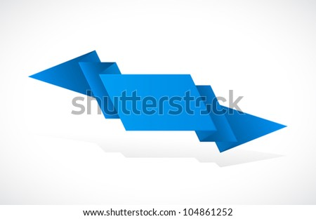 Ribbon Isolated On White Background - stock vector