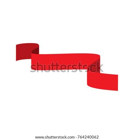 Ribbon Red Award Sign Wavy Emblem Stock Vector 764240062 - Shutterstock