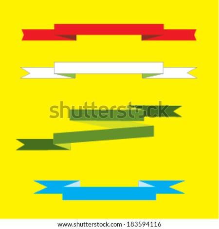 ribbon series  - stock vector