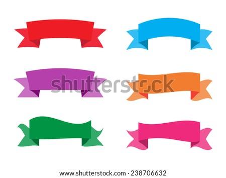 Ribbon set.Vector illustration. - stock vector