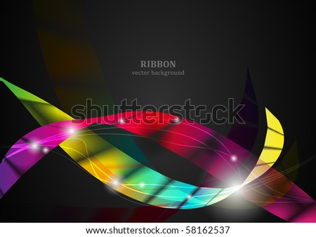 Ribbon vector background series - stock vector