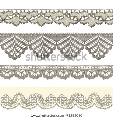 "Ribbon - Vintage engraved illustration - ""La mode illustree"" by Firmin-Didot et Cie in 1882 France - stock vector"