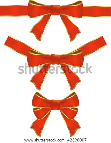 Ribbon with bow illustration decorations