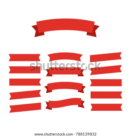 Ribbons banners. Decor vector