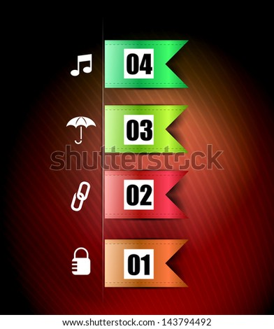 Ribbons infographic vector design template - stock vector
