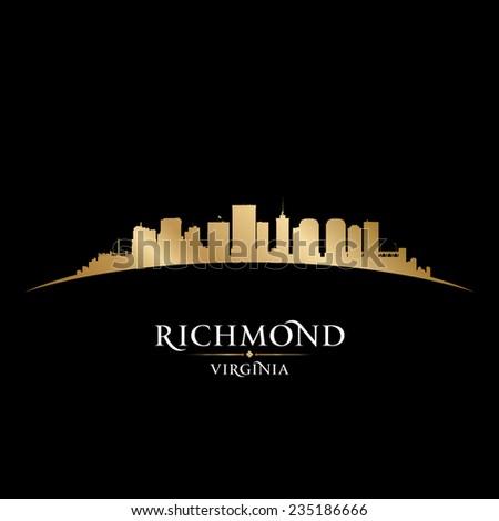 Richmond Virginia city skyline silhouette. Vector illustration - stock vector