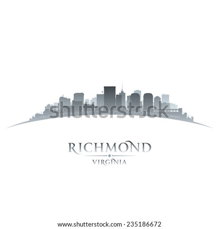 Richmond Virginia city skyline silhouette. Vector illustration - stock vector
