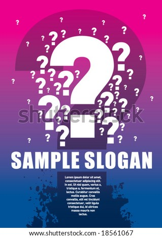Riddle Poster. Just place your own texts and titles. - stock vector