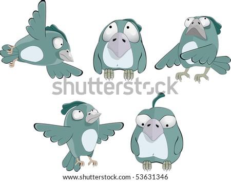 Ridiculous sparrows - stock vector