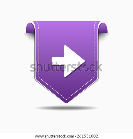 Right Arrow Purple Vector Icon Design