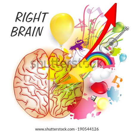 Right brain functions - stock vector
