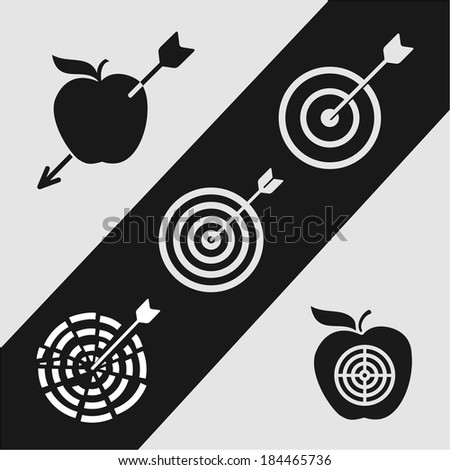 Right on target - stock vector