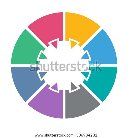 stock vector ring diagram of eight colored sections template infographics 306934202 ring diagram six colored sections template stock vector 281687333 ring diagram at soozxer.org