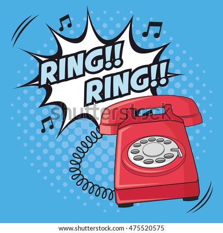 Klingelndes Telefon Comic
