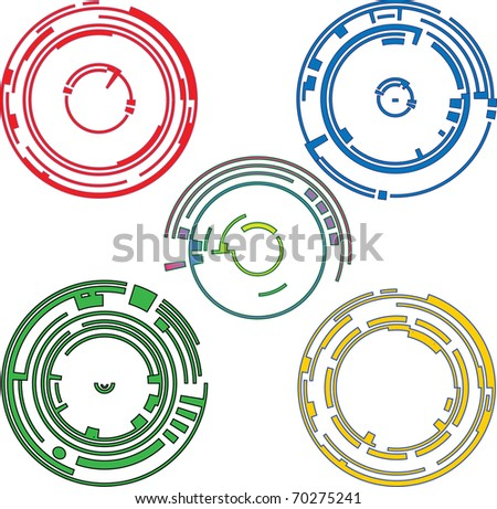Ring graphic elements - stock vector