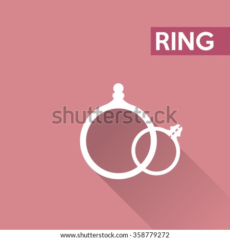 Ring icons - stock vector
