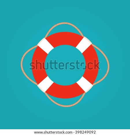 Ring life buoy vector illustration. Ring life buoy icon isolated. Ring life buoy summer symbol. Ring life buoy for traveling design. Summer time vacation Ring life buoy icon isolated  - stock vector