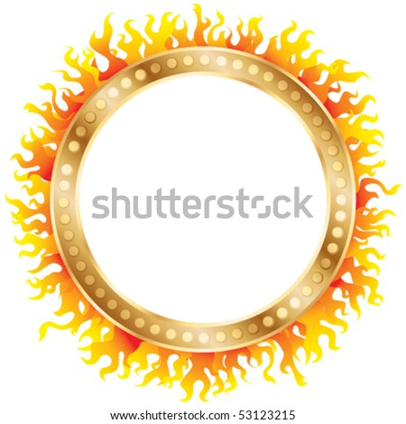 Ring of fire. Vector - stock vector