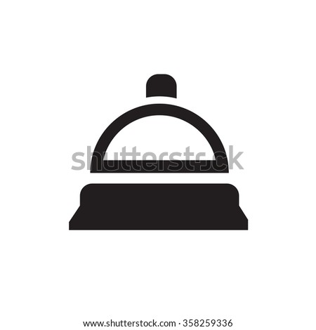 ring the bell icon - stock vector