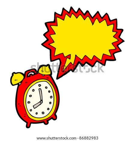 ringing alarm clock - stock vector