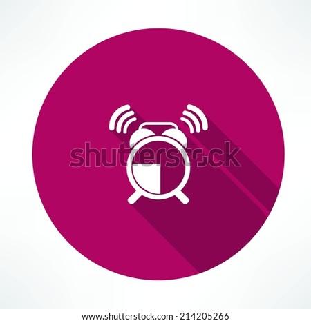 ringing alarm clock icon - stock vector