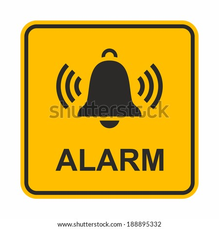 Ringing bell icon. Alarm sign.