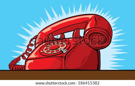 Ringing Phone  - stock vector