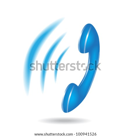 ringing phone vector - stock vector