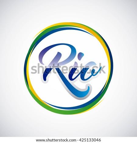 rio design - stock vector