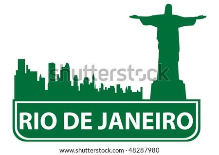 Rio outline. Vector illustration - stock vector