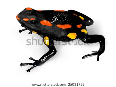 Rio Santiago Poison-Dart Frog (Dendrobates captivus) - vector illustration - stock vector
