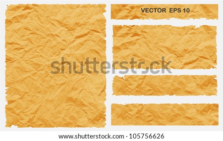 Rip Crumpled Paper Vector illustration - stock vector