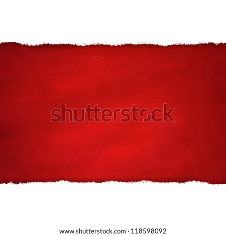 Rip White Paper And Dark Red Background With Gradient Mesh, Vector Illustration - stock vector