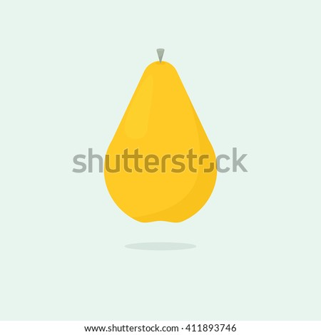Ripe pear - stock vector