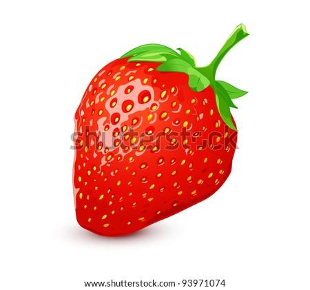 Ripe strawberry - stock vector