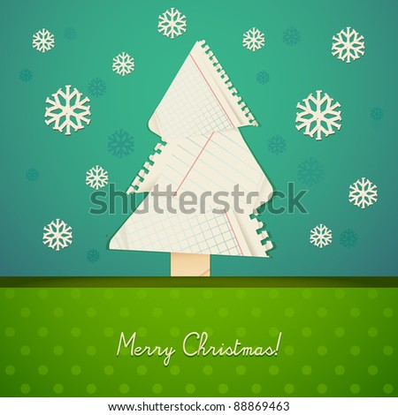 Ripped paper christmas design eps10 - stock vector