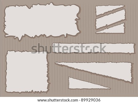 ripped paper notes - stock vector