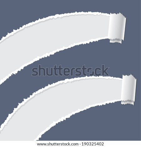 Ripped paper vector - stock vector