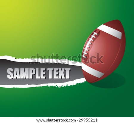 ripped paper with football - stock vector