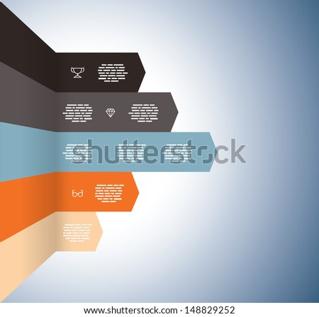 Rising graph with Arrows - stock vector