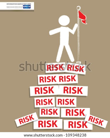 Risk and businessman,Vector
