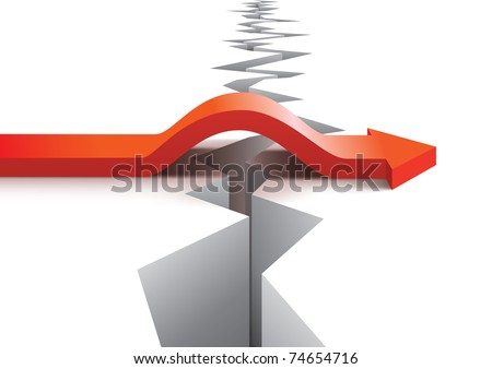 Risk and success vector concept - stock vector