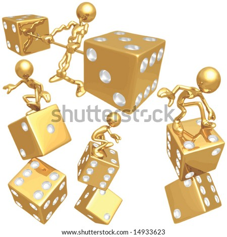 Risk Dice Concepts Heavy Gamble - stock vector