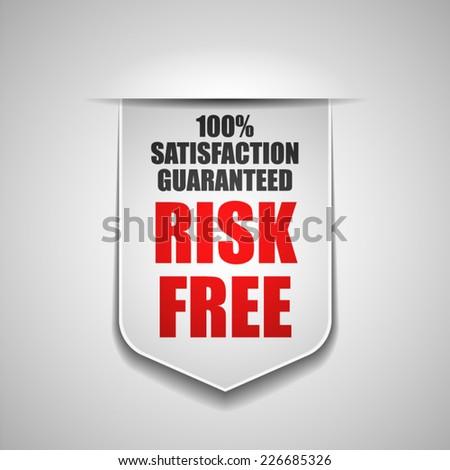 Risk free - stock vector