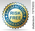 Risk-free guarantee label. Vector EPS 8. - stock vector